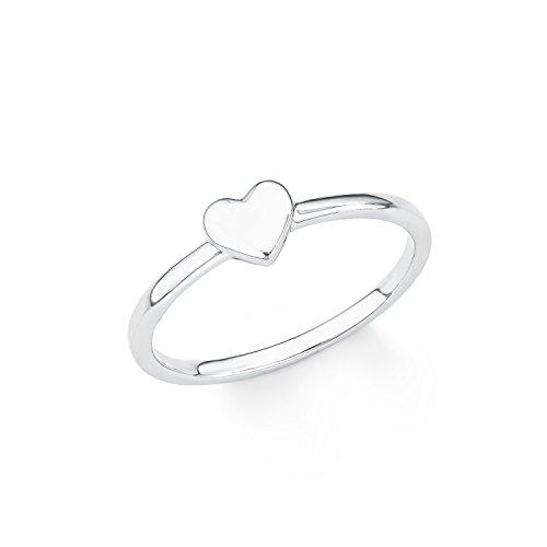 s.Oliver Damen-Ring So Pure Herz Basic schlicht 925 Sterling Silber rhodiniert