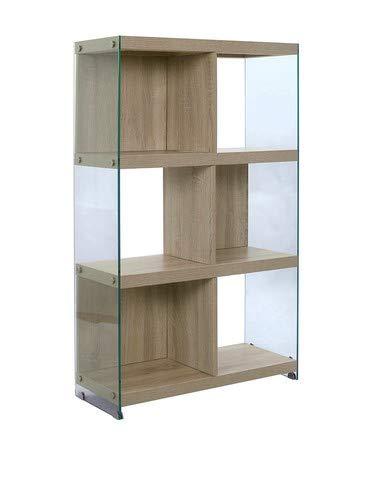 WINK DESIGN Nancy Libreria, 6 Vani, Legno, Rovere, 71x30x120 cm