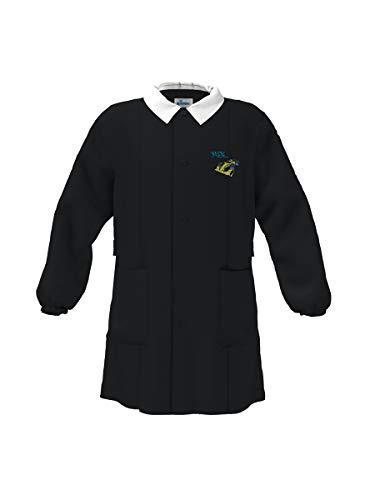 siggi grembiule scuola bambino Nero - DISEGNO/RICAMO VARIABILE (10 Anni)