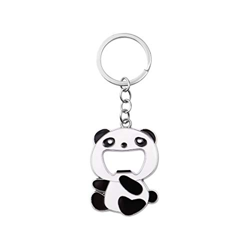 TOYMYTOY 2.4Inch Panda Bottle Opener Keychains Cute Chinese Panda Beer Soda Wine Bottle Opener