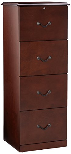 Z-Line Designs 4-Drawer Vertical File Cabinet, Cherry