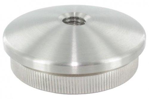 Endkappe leicht gewölbt mit M10 Innengewinde, massiv, für Rohr ø 48,3 x 2,6mm, zum Einschlagen