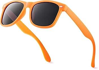 Retro Rewind Classic Polarized Sunglasses Orange | Smoke Polarized
