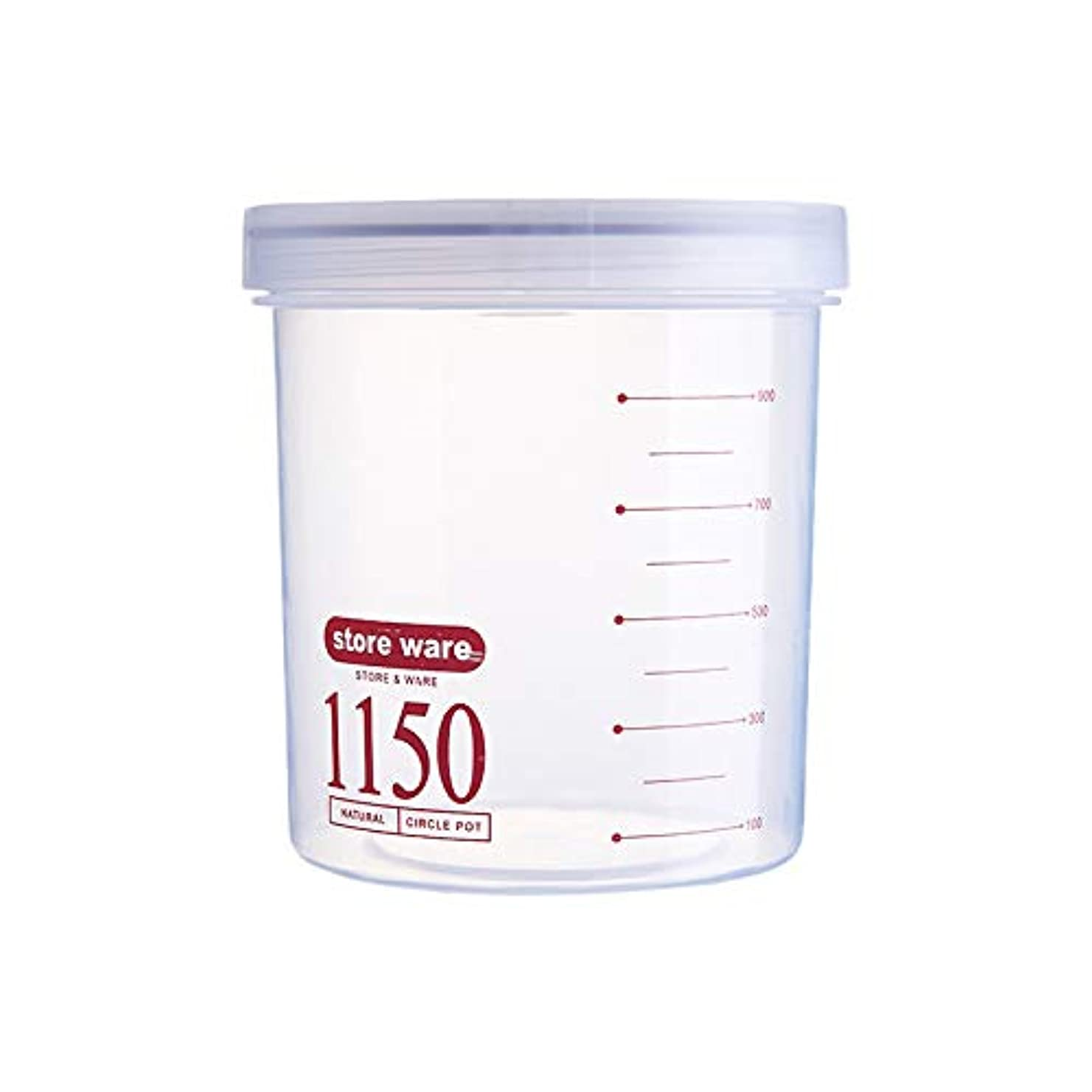 知らせる洗練ますますSODIAL ふたが付いている 台所食糧貯蔵のびん 缶 大容量 穀物のびん ティーボックス 透明なプラスチック缶 密封 赤色1150Mlのプラスチック