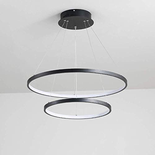 Hai Ying LED Ristorante kroonluchter, modern, minimalistisch, zwarte plafondlamp van acryl, Nordic woonkamer van aluminium kroonluchter, creatief personeel, bar camera studio chandelier