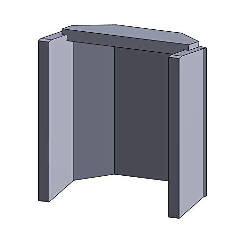 Flamado Feuerraumauskleidung Komplettset 6-teilig passend für Hark Kamin Ersatzteile Kaminofen Brennraumauskleidung Vermiculite 1.150°C