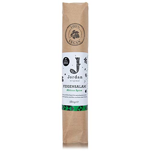 Jordan Original – Feigensalami African Spice 180 g 100% veganes Lebensmittel aus getrockneten griechischen Feigen