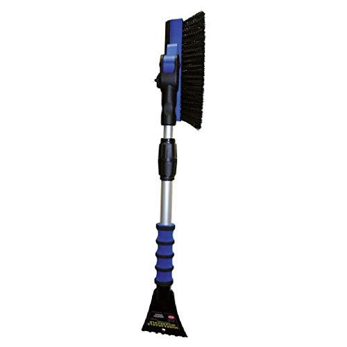 Petex 46020000 Schneebesen / Eiskratzer 4602 mit Gummilippe, Besen 90° schwenkbar, Teleskopstange, farblich sortiert