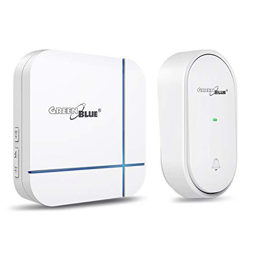 Green Blue GB210 Kinetische deurbel batterijloze draadloze deurbel 52 melodieën tot 150 m ontvanger + zender IP44
