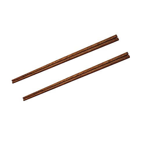 2 Pairs Cooking Chopsticks,12 Inch Reusable Long Wood Chopsticks,Use for Pasta,Noodles,Beef,Barbecue,Frying,Hot Pot,Brown