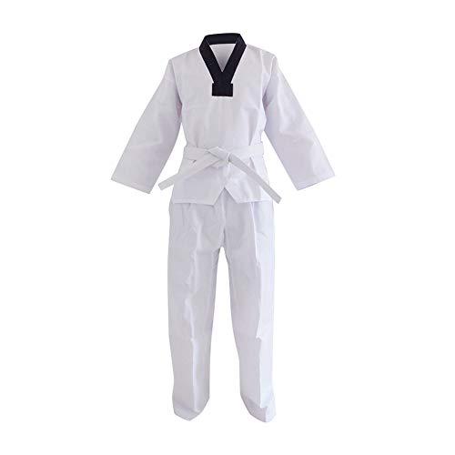Daytwork Taekwondo Kimono - Niño Adulto Unisex Hombre Cuello De Pico Sudadera Dobok Karate Aikido Judo Kung Fu Traje De Artes Marciales Uniforme Cinturones Algodón/Poliéster Manga Larga/Corta