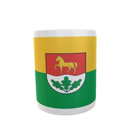 U24 Tasse Kaffeebecher Mug Cup Flagge Landkreis Ludwigslust