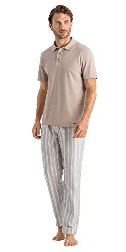 Hanro Herren Living Short Sleeve Polo Shirt Pyjama-Oberteil (Top), Sahara, X-Groß