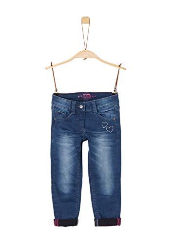 s.Oliver Mädchen 53.909.71.3482 Jeans, Blau (Blue Denim Stretch 57z4), 128 (Herstellergröße: 128/REG)