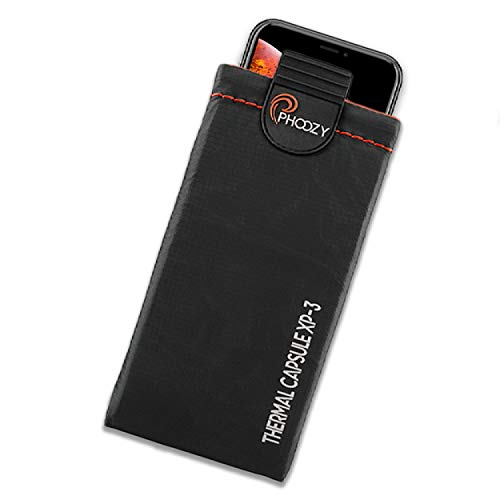 PHOOZY XP3 Series Ultra Rugged Thermal Phone Case - Insulated Weatherproof Phone Pouch Protects Against Cold & Extends Battery Life Stash Pocket MultiPoint Attachment System [Cosmic Black - Large]