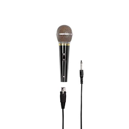 """Hama Microphone dynamique """"DM 60"""" (avec caractéristique cardioïde, boîtier en métal, longueur de câble 3m) Noir"""