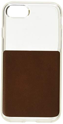 Nomad Clear Case for iPhone 7s   Rustic Brown Horween Leather
