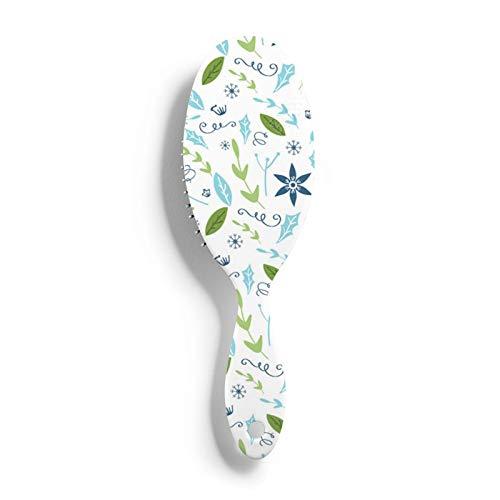 Cepillo de pelo de flores bonitas, cepillo de pelo de plástico, cepillo para desenredar, peine para todo tipo de cabello, para mujeres, hombres, cabello húmedo y seco