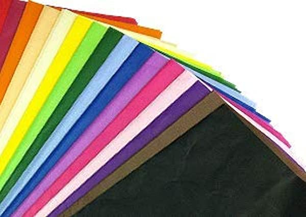100 X Multi Coloured Tissue Paper Gift Wrap Wrapping Paper Sheets 20 X 30 By Swoosh Supplies