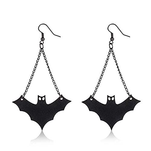 RTUQ Pendientes de Halloween con diseño de murciélago negro, sin níquel, para Halloween, drop Dangle, regalo a la moda, dibujos animados, joyas para fiestas, Halloween, cosplay, carnaval