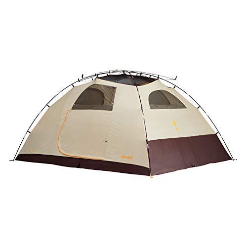 Eureka! Sunrise EX 8-Person, 3-Season Waterproof Camping Tent, Cement/Java/Orange (20 Pounds 9 Ounces)