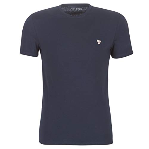 Guess Camiseta Hombre Manga Corta Azul Cuello Redondo M01I24J1300-G720 XS
