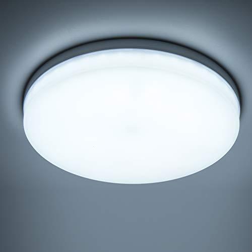Yafido LED Deckenlampe Ultra Slim 48W 4320Lm UFO LED Panel 6500K Kaltweiß LED Deckenleuchte für Wohnzimmer Schlafzimmer Flur Büro Küche Küche Balkon und Esszimmer Nicht-dimmbar Ø30 cm