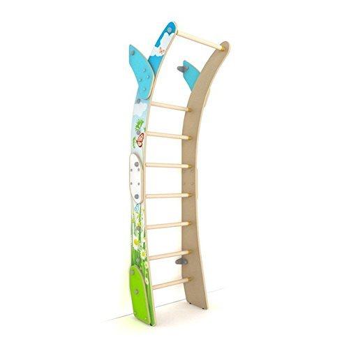 Interior de madera Kids–Juego de Parque infantil/familia sueco luna de pared/pared escalada escalera Set/Suit para apartamento, escuela, niños habitación y sala de juegos/Luna Estilo L