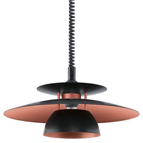 EGLO 31666 Zugpendelleuchte Hängeleuchte BRENDA in schwarz und kupfer, E27 max. 1X60W