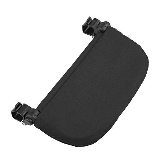 Yisentno Reposapiés de Cochecito de Tela Oxford Transpirable, extensión de Cochecito de bebé de 14Cm anticaída, para Soporte de pie de(Black, Foot Rest Without Logo)