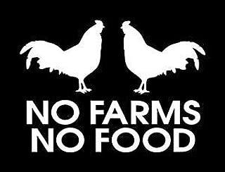 No Farms No Food WHITE Vinyl Car/Laptop/Window/Wall Decal