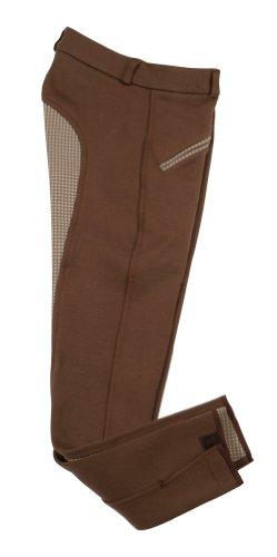 PFIFF Gina Childrens - Pantalones de hípica Infantil, tamaño 134, Color marrón/Grau