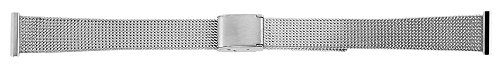 Edelstahl Meshband in | 14 mm | Uhrband | Ersatzarmband | Faltschließe - 8100004-140