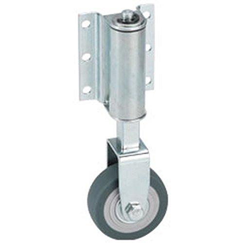 Leiterrolle Federrolle Bockrolle 50 mm gefedert für Leitern Gummi grau