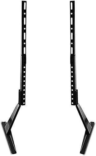 BNFD Universal Table Desk Pedestal TV Stand Mount Tabletop Screen Monitor Riser for 27'-65' LCD Flat Screen TV