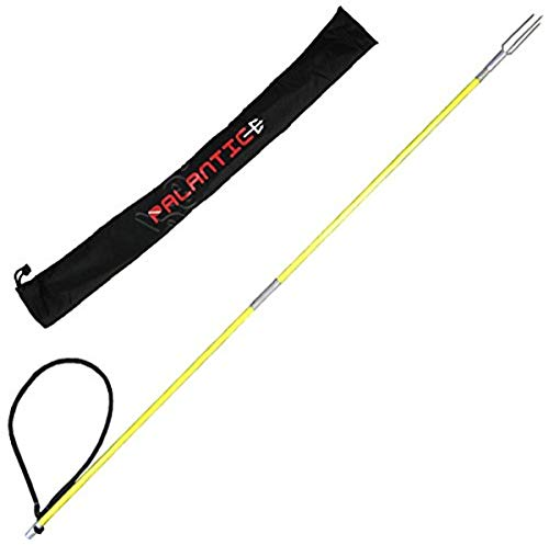 Scuba Choice Fiber Glass 4.5' Travel Two Piece Spearfishing Pole Spear with Lionfish Barb Tip and Bag
