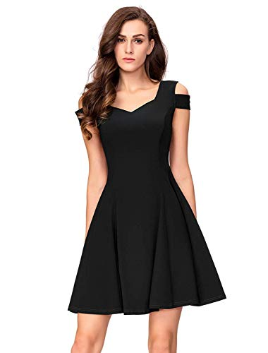 InsNova Women's Black Cocktail Dresses for Summer Homecoming Wedding Party Classic Little Black Dresses