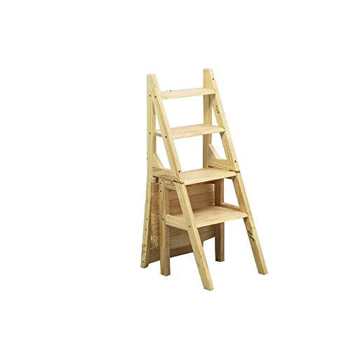 N / A Startseite Holzklappleiter Stuhl bewegliche Raumersparnis Raum Multi-Funktions-Eindickung Leiter Stuhl Innen