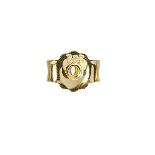 Ohrsteckerpoussette 5 mm 585er Gold Butterfly-Verschluss 14 Karat Ohrmutter