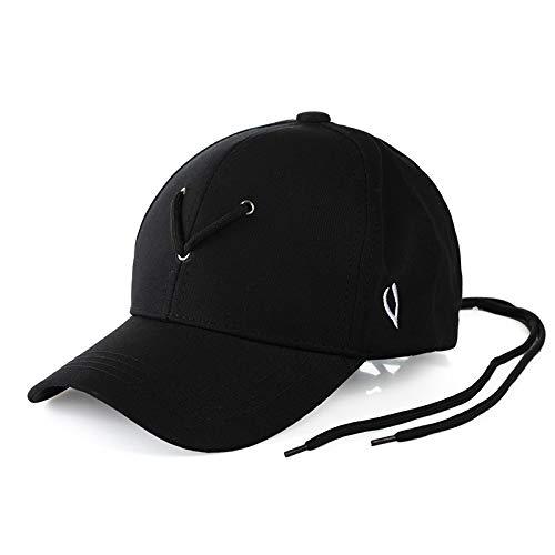 Lvntsx baseballpet pet letters borduursel baseballcap met lange riem bot snapback caps hip hop hoed