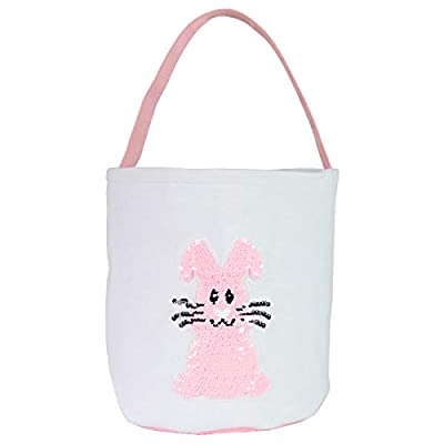 XLSTORE Easter Basket Holiday Rabbit Bunny Prin...