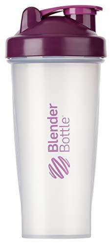 BlenderBottle Classic Shaker | Shaker Protéine | Bouteille d'eau |Blenderball | 820ml - plum / tranparent