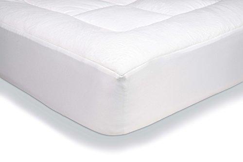 Amazon Basics - Protector de colchón acolchado con tejido micropolar ultrasuave (135 x 190 cm)