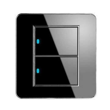 ExcLent Panel De Vidrio Con Interruptor De Luz Táctil De Pared Led Panel De Interruptor De 1/2 Cuadrilla Panel De Control De Potencia - 2