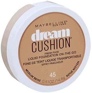 (Pack 2) Maybelline New York Dream Cushion Fresh Face Liquid Foundation, 45, Medium Beige, 0.51 Fluid Ounce