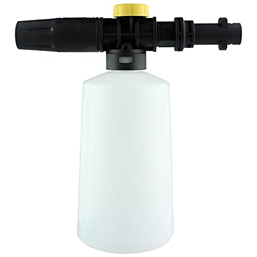Snow Cannon Foam Lance 0.7L Pressure Car Foamer Wash Adjustable Sprayer,Soap Bottle Car Washer, All Plastic Portable Foamer Nozzle for Karcher K2 K3 K4 K5 K6 K7