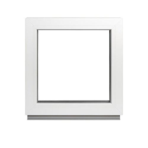 Alle Grössen Festverglasung Kunststoff Fenster - Kellerfenster BxH: 60 x 40 cm weiß fenster- Doppelverglasung Fenster Für Gartenhaus/Garagen Fenster -Premium Kunststofffenster BxH: 600 x 400 mm
