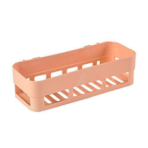KKJIA Estantes De Baño Estante De Esquina Para Carrito De Baño Organizador De Almacenamiento Sin Perforaciones, Para Accesorios De Baño De Cocina Rectangular naranja