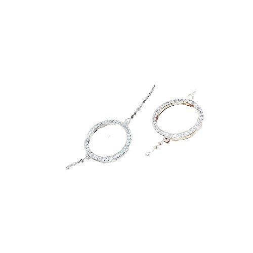 Pulsera de aleación redonda creativa par pulsera conjunto pendientes joyería femenina