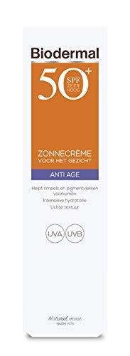 Biodermal Zonnebrand - Anti Age Zonnecrème voor het gezicht - SPF 50 - 40ml